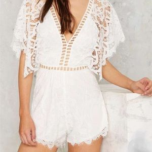 Lioness Love Ladder Lace Romper